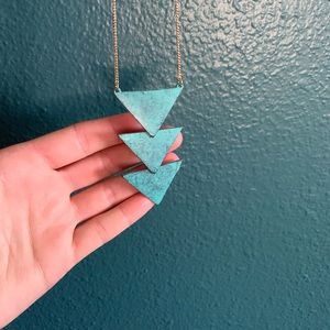 Francesca's Turquoise Triangles Long Necklace